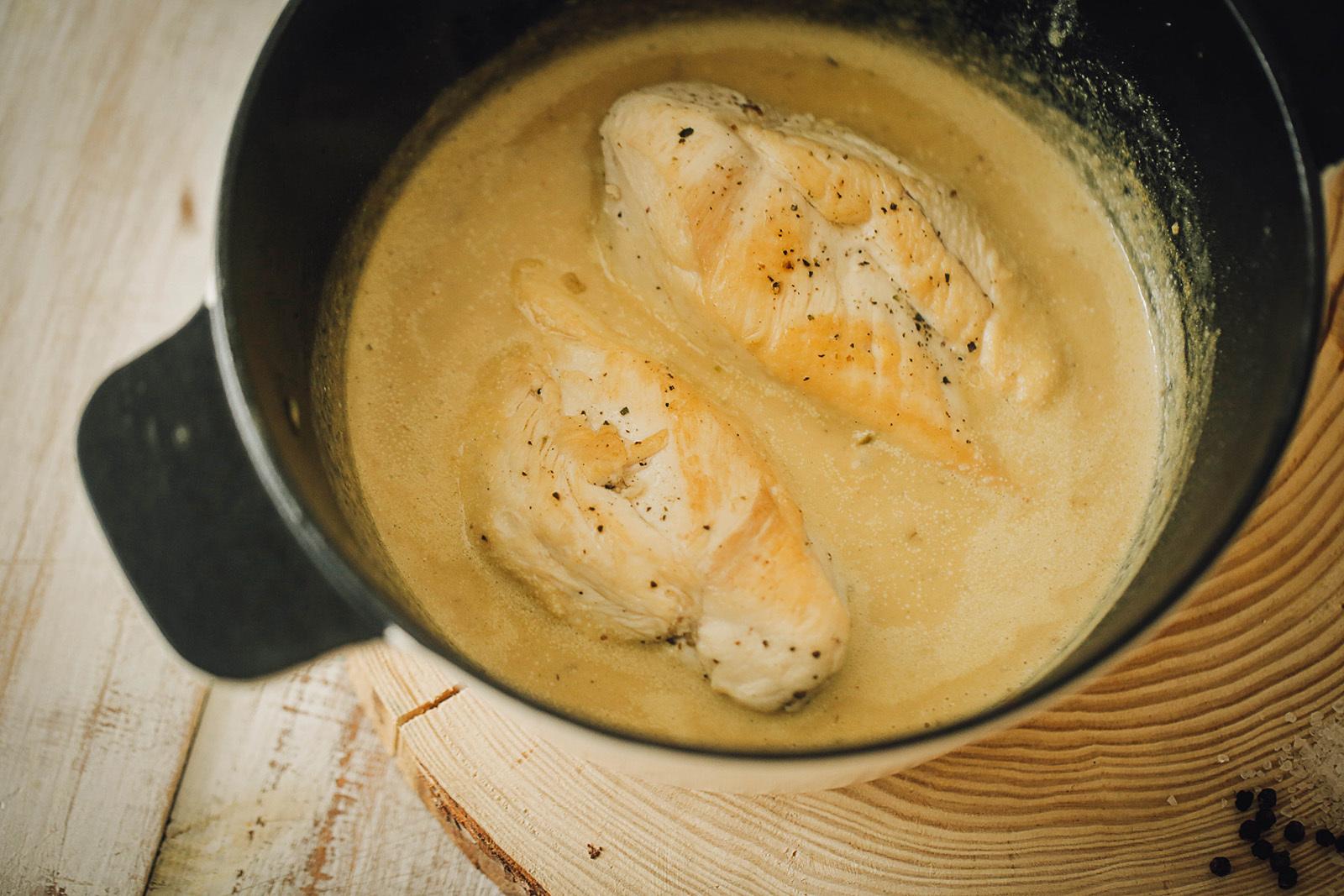 Как сделать сливочный соус для курицы