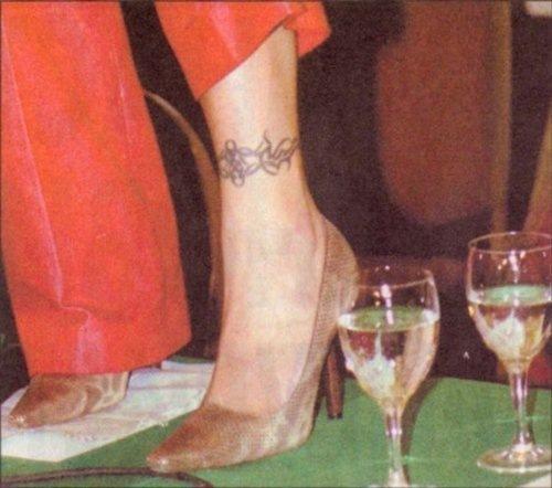 Наталья орейро тату на ноге